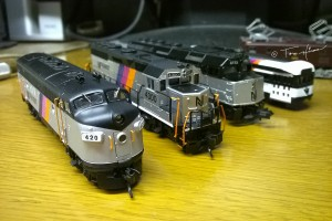 N scale NJ transit cars