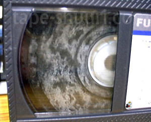 ビデオテープのカビ