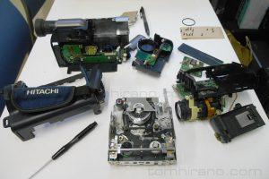 8ミリビデオカメラの分解